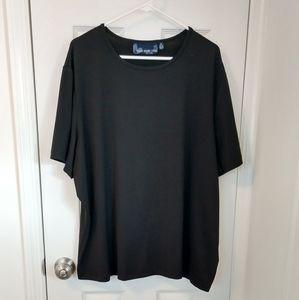 Susan Graver Style Black Plus Size Top